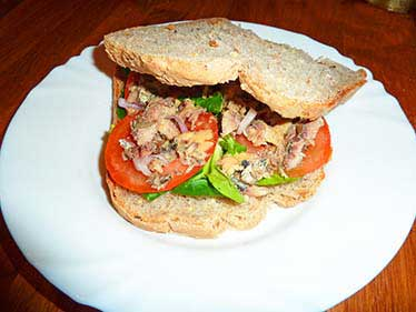 Sandwich sardine sans sel