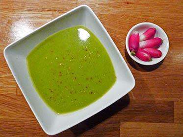 Soupe aux fanes de radis sans sel