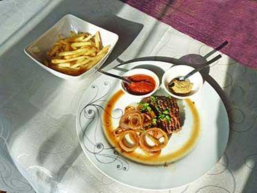 Steack frites sans sel